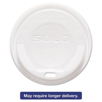Gourmet Hot Cup Lids, For Trophy Plus Cups, 12-16 Oz, White, 1500/carton