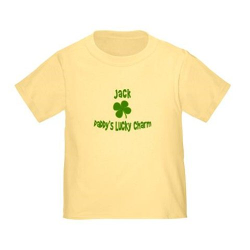 Personalized Daddy'S Lucky Charm Dad St. Patrick'S Patty'S Day Shamrock Shirt For Baby, Infant, Toddler, And Kids - Customize With Any Boy Or Girls Name, Birthday Present Custom Gift Collection front-932666