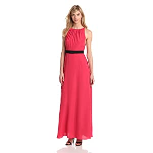 Jill Jill Stuart Women's Sleeveless Crepe Evening Dress, Azalea, 0