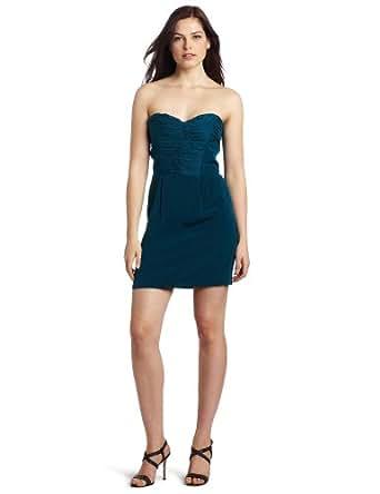 Rebecca Minkoff Women's Pleated Bustier Dress, Teal, 6 US