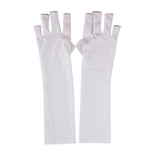 TOOGOO(R) Paire de Gants Protection UV pour Manucure Pedicure Blanc