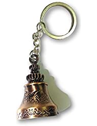 SahiBUY Small Classical Metal Ring Copper Bell Keychains Pet Bell Key Ring Kid Toy Key Chain (Brown)