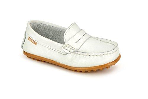Pablosky Unisex, bambini 120500 Scarpe da barca, mocassini Bianco Size: 39