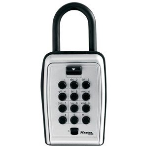 Master Lock Portable Key Safe - Push Button Lock Lock Bolt[S]3.1 - Black Silver