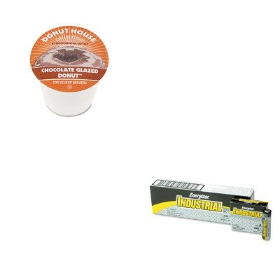 Kiteveen91Gmt6722Ct - Value Kit - Green Mountain Coffee Roasters Chocolate Glazed Donut Coffee K-Cups (Gmt6722Ct) And Energizer Industrial Alkaline Batteries (Eveen91)