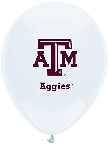 "Pioneer Balloon Company 10 Count Texas A & M Latex Balloon, 11"", Multicolor"