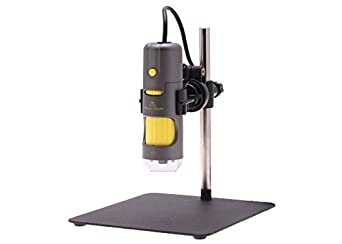 Aven 26700-204 Digital Handheld Microscope, 500x Fixed Magnification, Upper LED Illumination, With Stand, Includes 1.3MP Camera