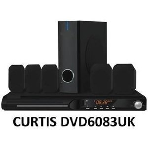Curtis 5.1 DVD HOME CINEMA THEATRE 450W HI FI SURROUND SOUND SYSTEM & SUBWOOFER