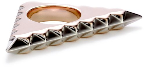 House of Harlow 1960 Rose Gold-Plated Triquetra Ring, Size 8