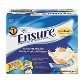 Ensure nutrition shake, homemade vanilla milkshake, 8-fl. oz. plastic bottles 30 pk Suitcase from Abbott Nutrition