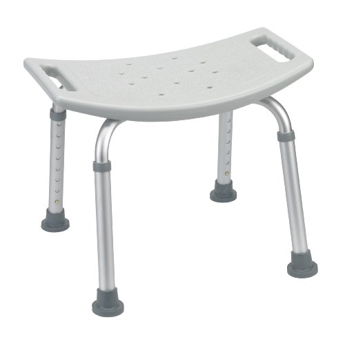 Drive Medical Bath Bench Without Back, White front-1075479