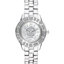 Christian Dior Christal Mother of Pearl Dial White Sapphire Diamond Ladies Watch CD113512M001