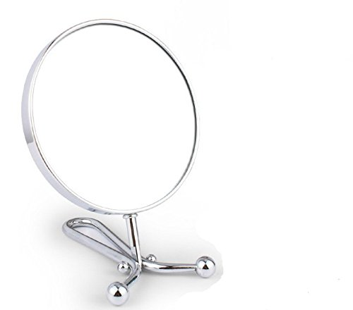 6-Inch Hand Mirror Special Design Tabletop 360 Degree 3X Swivel Vanity Mirror Magnification Folding Mirror Chrome Finish Mm30302 front-9456