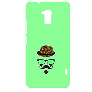 Skin4gadgets Hipster Pattern- Hat, Glasses, Mustache with Gotie Beard, Color - Medium Spring Green Phone Designer CASE for HTC ONE MAX