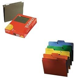 KITIDEFT07070UNV14115 - Value Kit - Find It FindIt File Folders (IDEFT07070) and Universal Hanging File Folders (UNV14115)
