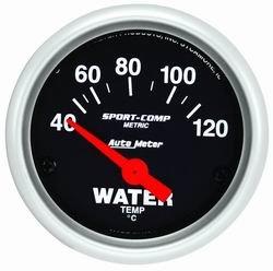 Auto Meter 3337M Sport-Comp Oil Water Temperature Gauge