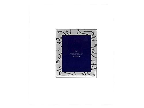 H&H Portafoto silver satin astratto 9x13 Cornici e specchi