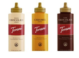 Torani Sauce 3 Pack Chocolate, Caramel, White