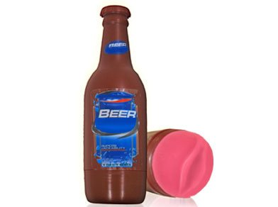 Beer Bottle Shape Realistic Feel Pussy Male Masturbator Sexual Stimulators