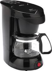 Sunbeam 883041 Coffee Maker 4 Cup, Black