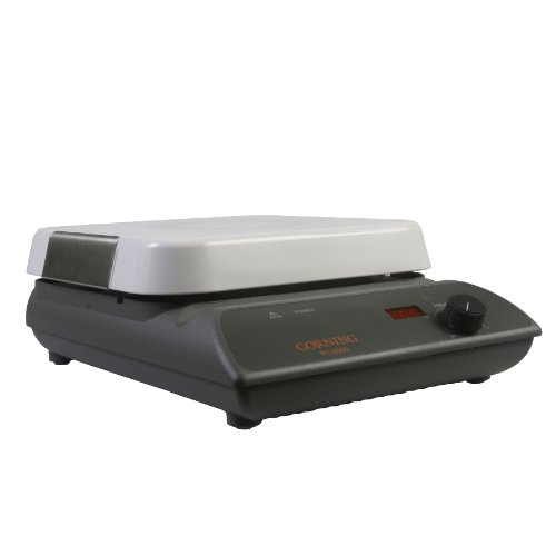 "Corning 6795-600D PC-600D Hot Plate with Digital Display and 10"" x 10"" Pyroceram Top, 40.1cm Length x 26.9cm Width x 26.9cm Height, 5 to 550 Degree C, 120V/60Hz"