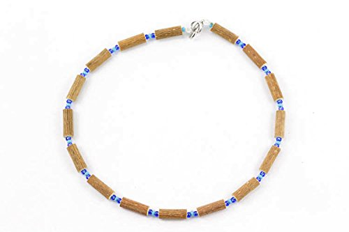 Healing Hazel Hazelwood Baby Necklace, Light Matte Blue/Clear Royal Blue