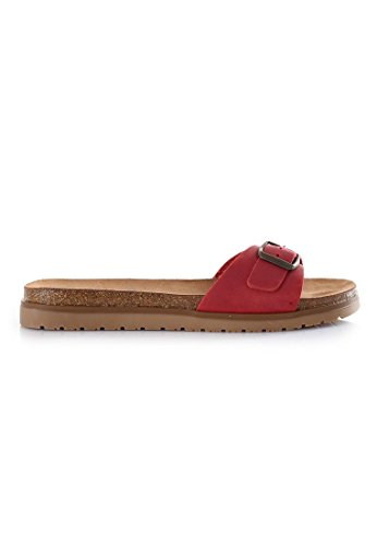 Coolway Ciabatta Stile Bio Colorata, Colore: Rosso, Taglia: 41