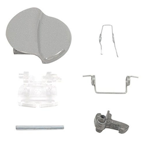 Servis Washing Machine Door Handle Catch Pin & Spring Kit (Silver / Grey)