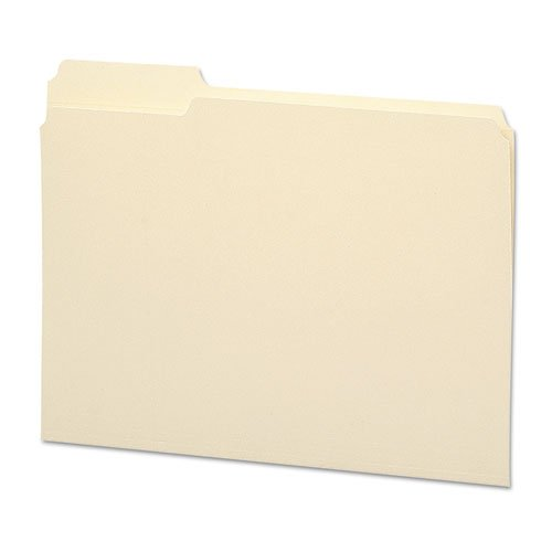 Smead - File Folder, 1/3 Cut First Position, Reinforced Top Tab, Letter, Manila, 100/Box 10335 (Dmi Bx