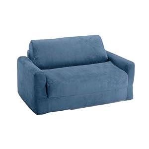 Fun Furnishings Sofa Sleeper Blue Micro Suede from Fun Furnishings