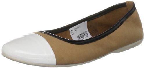 French Connection Women's Pompei Sfaj7 Tan / White Toe Ballet 2810833109 6 UK