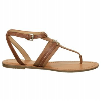 Tommy Hilfiger Women'S Lori Gladiator Sandal,Medium Brown,10 M Us front-385646
