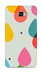 Amez designer printed 3d premium high quality back case cover for Samsung Galaxy A9 (Colorful Water Drops)