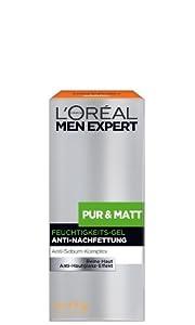L'Oréal Paris Men Expert Pur und Matt Pflege Feuchtigkeits Gel, 50ml