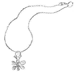 Girls Sterling Silver Butterfly Necklace Crystal