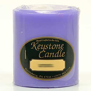 3x3 Scented Pillar Candles Lavender