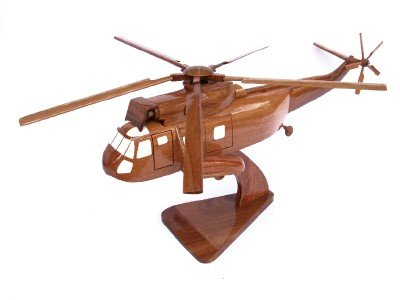 Wooden Desktop Model Sea King Helicopter