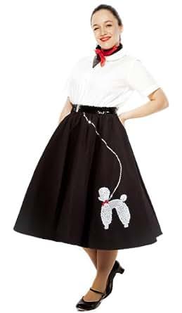 Poodle Skirt - Adult Medium / Large Sz - Black