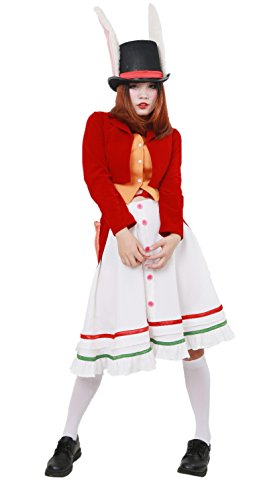 Alice Lucky Rabbit Outfit with Hat Cosplay Costume