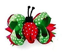 Baby Girls Hair Accessories -3-In-1 Bow - LADYBUG- 355026