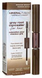 Mineral Fusion Gray Root Concealer, Medium Brown, .28 Ounce