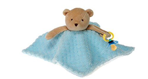 """Blue Blanket Bear Pacifier Holder 10"""" by Fiesta - 1"""