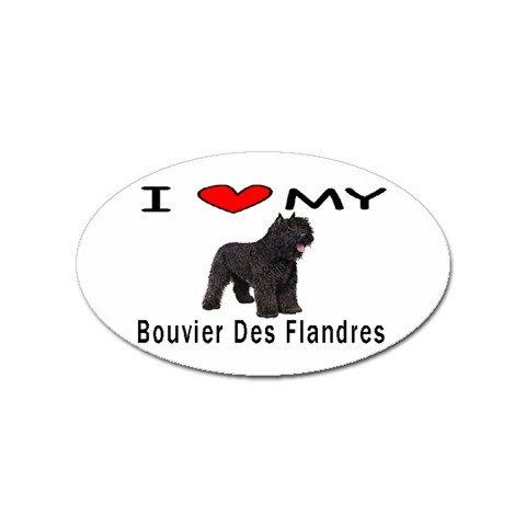 I Love My Bouvier des Flandres Oval Magnet