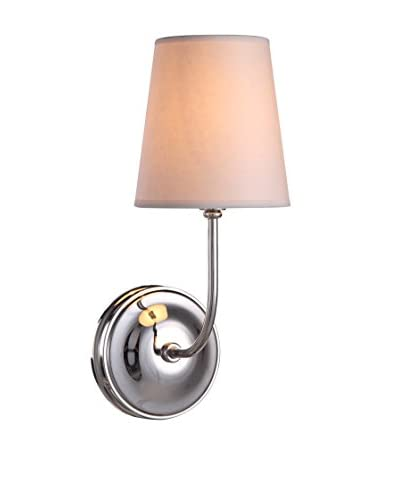 Urban Lights Lancaster 1-Light Wall Lamp, Polished Nickel