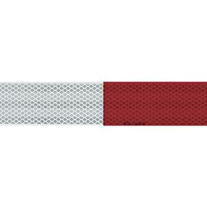 3M 03462 Scotchlite High Visibility Reflective Strips, 2-Inch by 18-Inch, Alternating Red and White