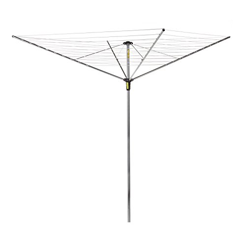 Minky Easy Breeze 4 Arm Umbrella Clothesline, 164-Feet Drying Space