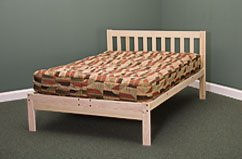 Queen Size Charleston Platform Bed Frame &#8211; Solid Hardwood