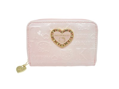 Hello Kitty round coin & card case HK23-4 (Pink)