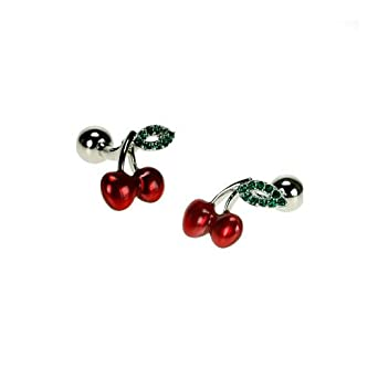 Cherries with Crystal Leaf