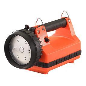 The Rugged Streamlight E-Flood LiteBox Rechargeable lantern in orange